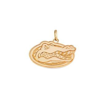 "3/8"" 14KT Gold Albert Gator Head Pendant - Jewelry Works"