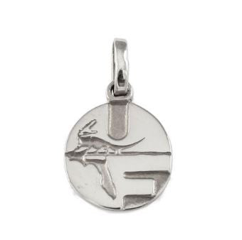 "1/2"" Sterling Silver UF Pell Logo Charm Pendant"