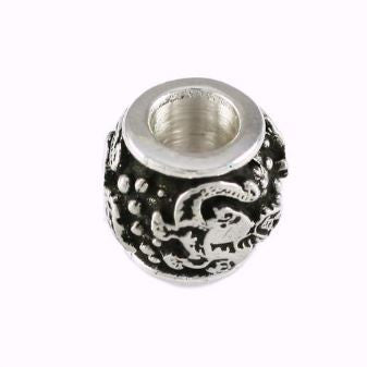 Gator Bead Fighting Albert Sterling Silver