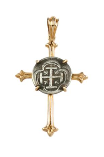 "5/8"" REPLICA ATOCHA IN CROSS SETTING - ITEM #17402 - Jewelry Works"