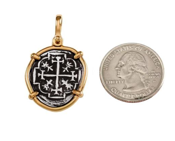 "1"" REPLICA ATOCHA PENDANT WITH SHACKLE BAIL - ITEM #18134"