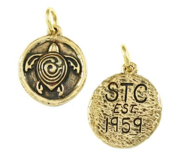 "18634 - 1 1/2"" BRONZE STC SYMBOL WITH INITIALS & DATE ON BACK - Jewelry Works"