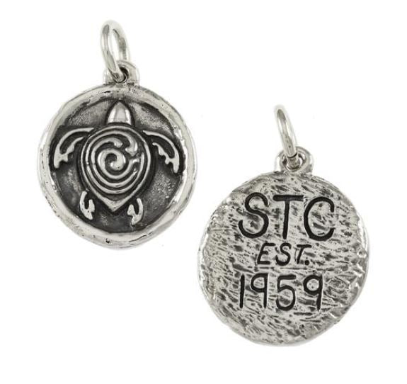 "18634A - 1 1/4"" STERLING STC SYMBOL WITH INITIALS & DATE ON BACK"