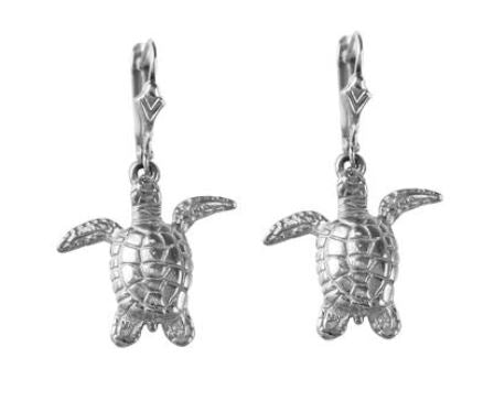 "30596 - 3/4"" GREEN SEA TURTLE LEVERBACK - Jewelry Works"
