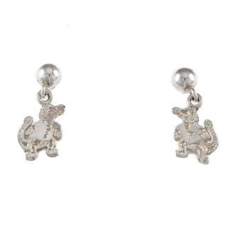 "3/8"" Sterling Silver Albert Gator Dangle Post Earrings"