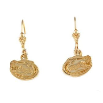 "1/2"" 14K Gold Albert Gator Head Dangle Earrings - Jewelry Works"