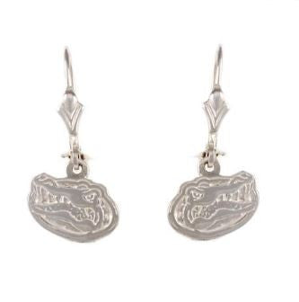 "1/2"" Sterling Silver Albert Gator Head Dangle Earrings"