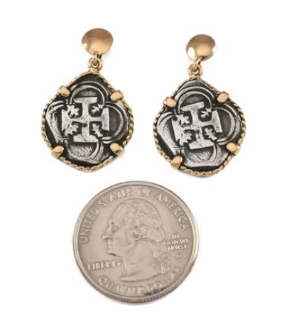 "3/4"" REPLICA ATOCHA EARRINGS IN TWISTED FRAME - ITEM #30768"