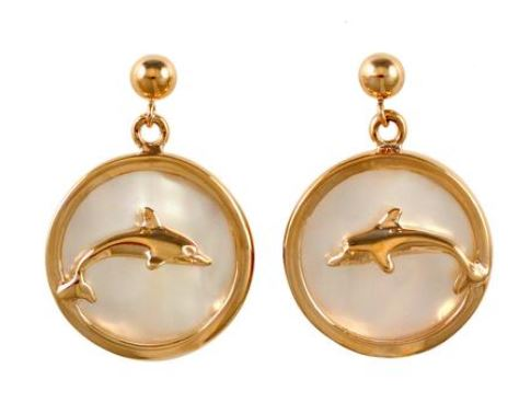 30774 - DOLPHIN SEA OPAL EARRINGS - Jewelry Works