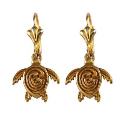 30856A - GOLD OR SILVER STC LOGO SEA TURTLE EARRINGS - Jewelry Works