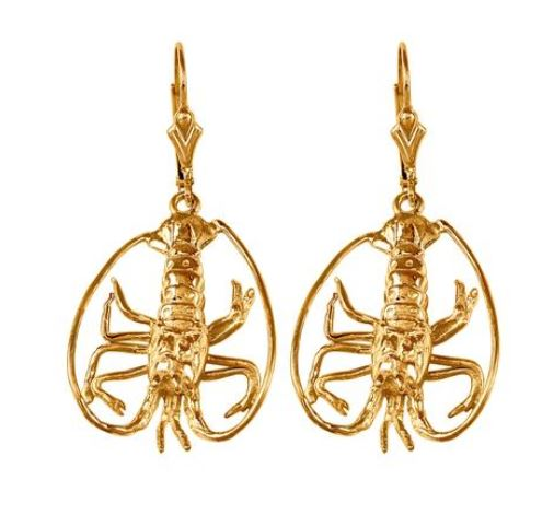 30878 - FLORIDA LOBSTER LEVERBACK EARRINGS - Jewelry Works
