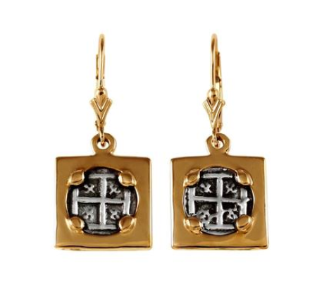 "1/2"" REPLICA ATOCHA EARRINGS IN SQUARE FRAME - ITEM #30906 - Jewelry Works"