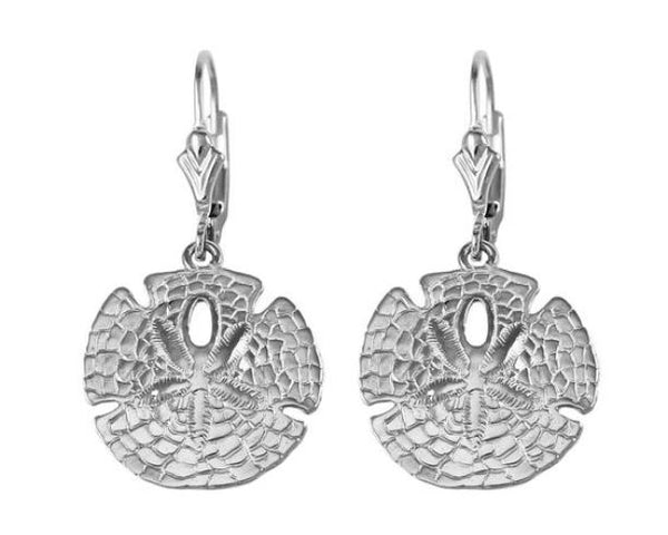 "30917 - 5/8"" SAND DOLLAR LEVER-BACK EARRINGS"