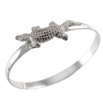 "1 3/4"" Sterling Silver Alligator Gator Hook Bracelet"