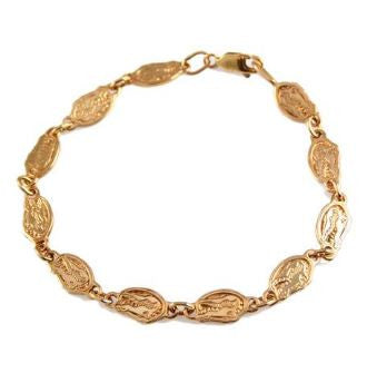 Florida Gator Head Link Bracelet 14K Yellow Gold - Jewelry Works
