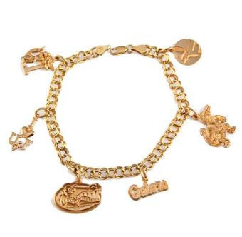 University of Florida 14K Gold Charm Bracelet - Jewelry Works