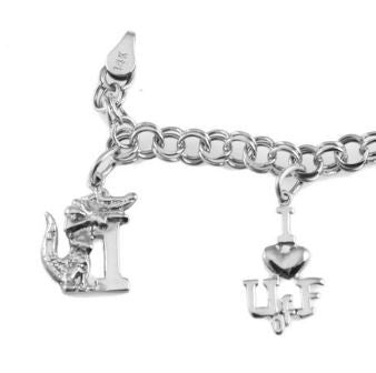 University of Florida Sterling Silver Charm Bracelet - Jewelry Works