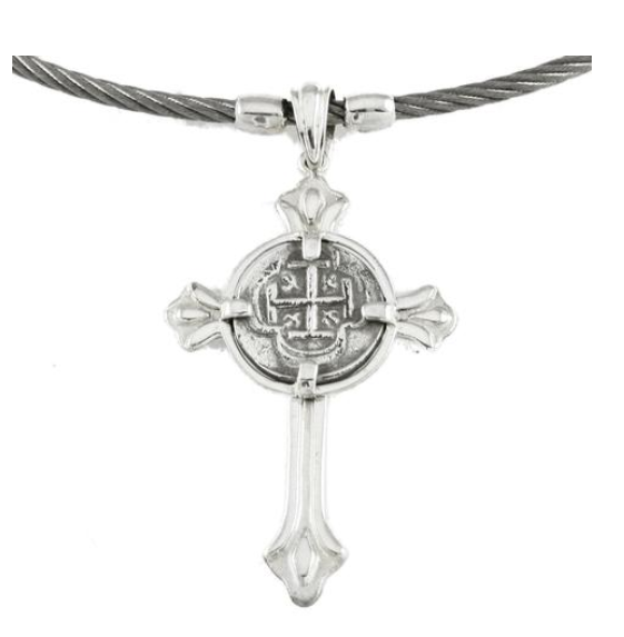 REPLICA ATOCHA CROSS PENDANT ON CABLE NECKLACE - ITEM #47228
