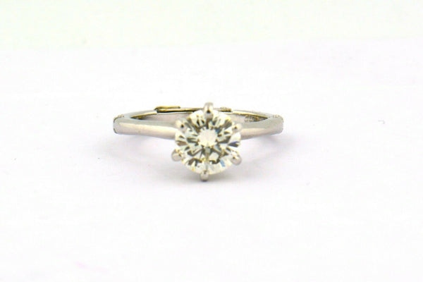 1.51CT Diamond Solitaire Engagement Ring SI1 L Platinum/White Gold GIA Certified - Jewelry Works