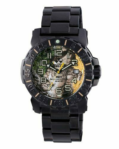 Reactor Trident 2 Realtree camo dial with black-plated case and bracelet - Jewelry Works