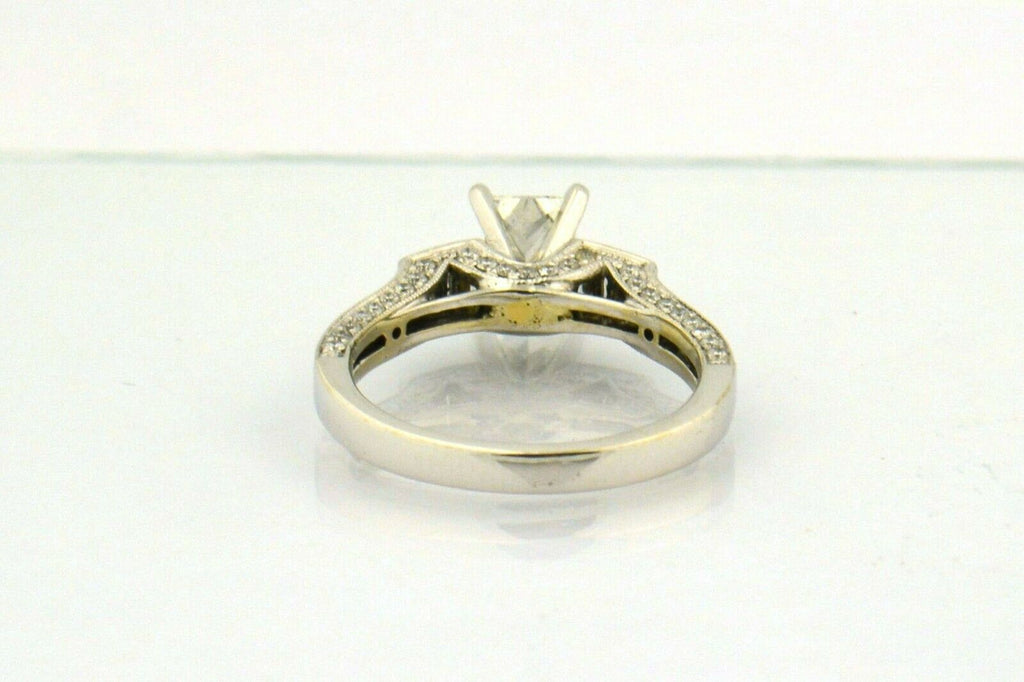 14KW 1.58CTTW Elongated Princess Cut Diamond Engagement Ring - Jewelry Works