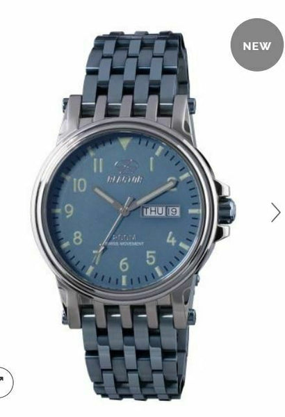 Men's Reactor Watch Neutrino 44503 Ice blue dial & bracelet, stainless case, NWT