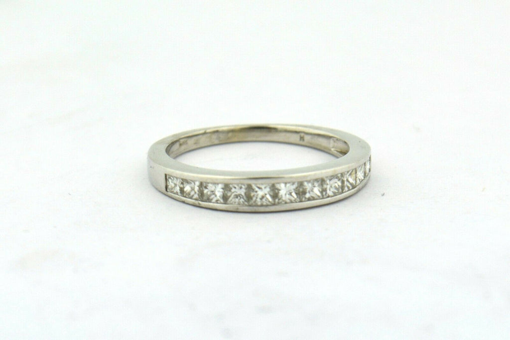 14KW 0.55CTTW Princess Cut Diamond Channel Anniversary Wedding Band SI1-SI2 G-H - Jewelry Works