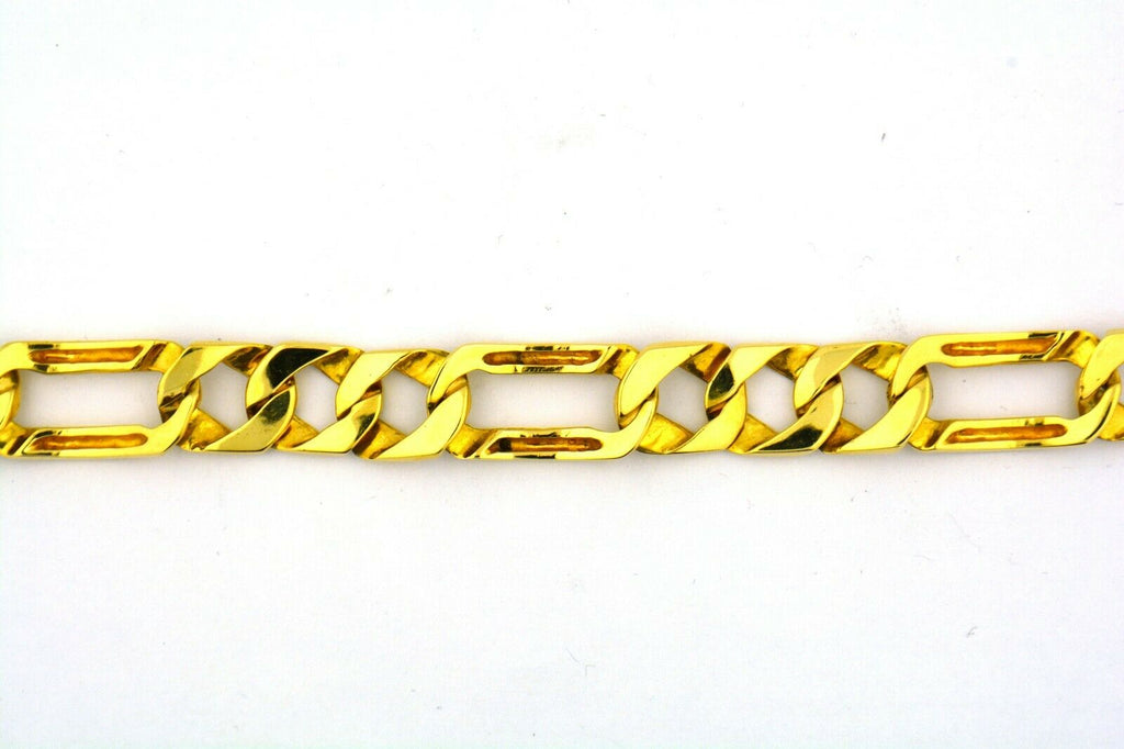 14 Karat Yellow Gold 8IN 14MM Men's Cuban Figaro Bracelet 49.48GRAMS!!! - Jewelry Works