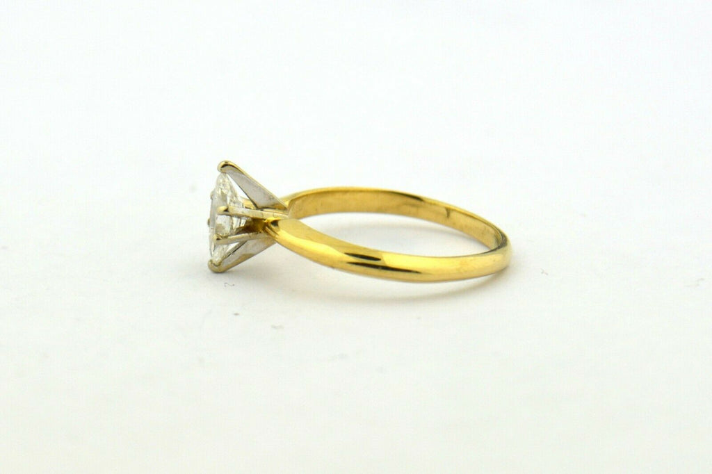 14K yellow gold .40ct Natural Diamond Marquise Solitaire Ring SI2-H 1.8g - Jewelry Works