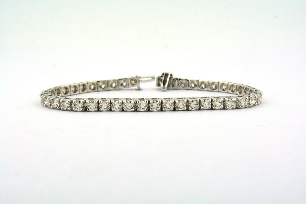 14KW 7CTTW 43 Round Diamond Tennis Bracelet VS1-SI1 G-H 4MM Wide Designer: UNeek - Jewelry Works