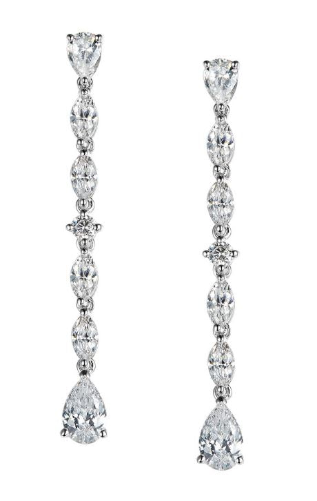 Elegant Drop Earrings 8E027CLP - Jewelry Works