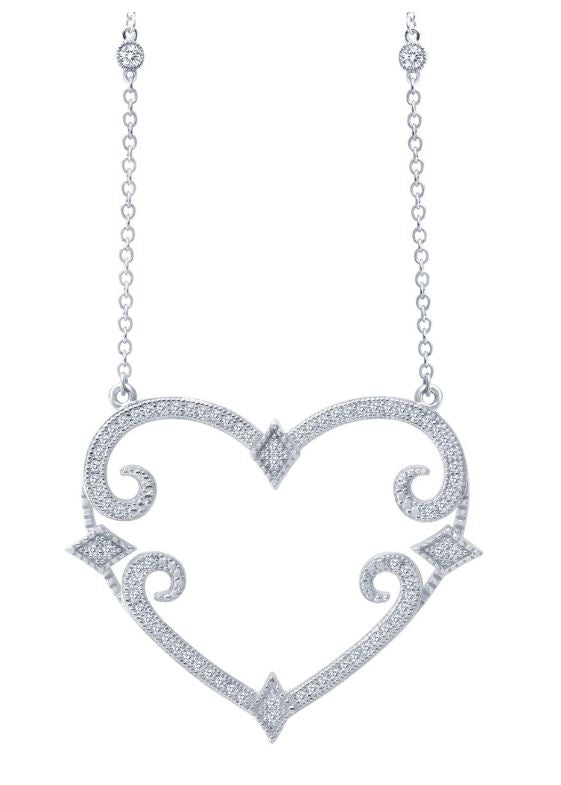 9N013CLP Designer Heart Necklace - Jewelry Works