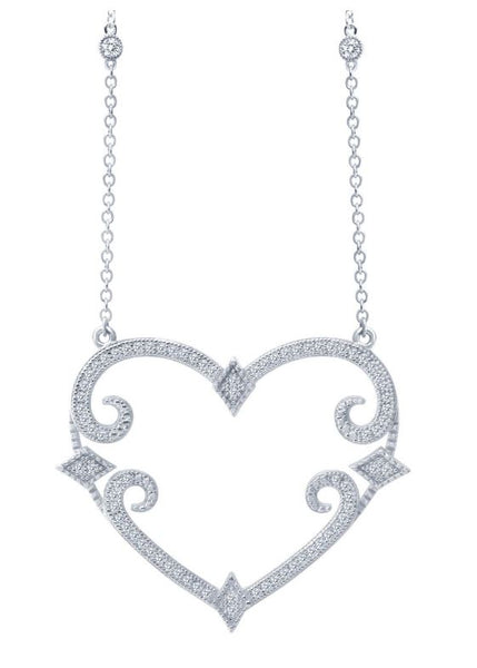 9N013CLP Designer Heart Necklace