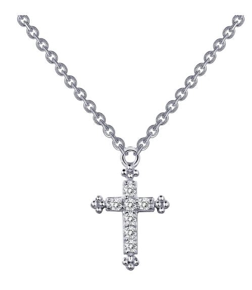 Simulated Diamond Cross Necklace - Jewelry Works