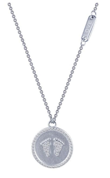 9N026CLP In Memory Baby Simulated Diamond Necklace