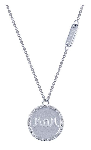 9N042CLP Mom Simulated Diamond Necklace