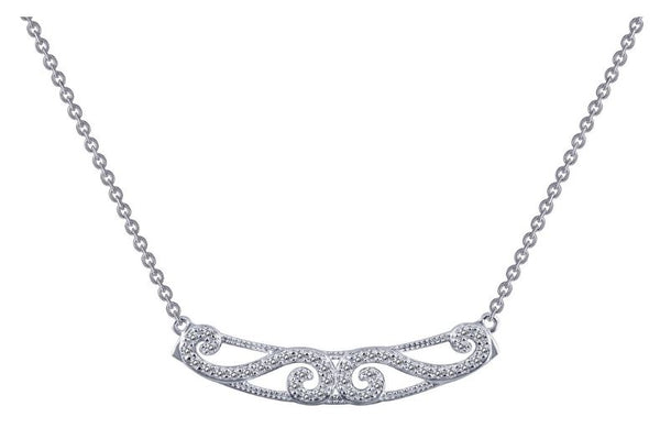 9N052CLP Simulated Diamond Necklace