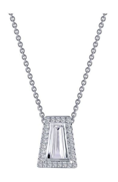 9N080CLP Bezel Set Baguette Necklace