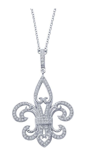 9P001CLP Fleur-de-lis Necklace - Jewelry Works