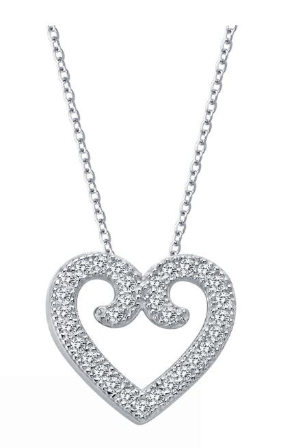 9P013CLP Heart Necklace - Jewelry Works