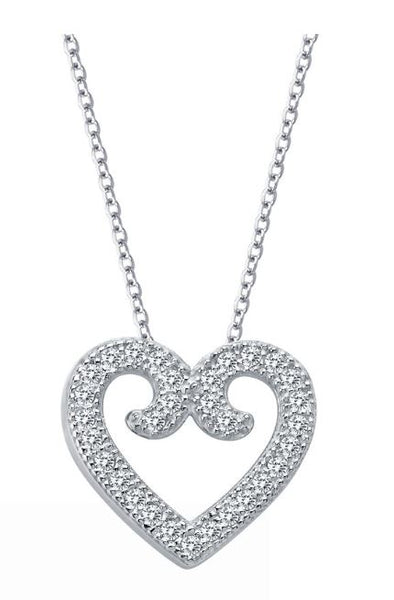 9P013CLP Heart Necklace