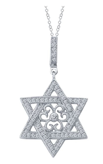 9P027CLP Star of David Necklace - Jewelry Works