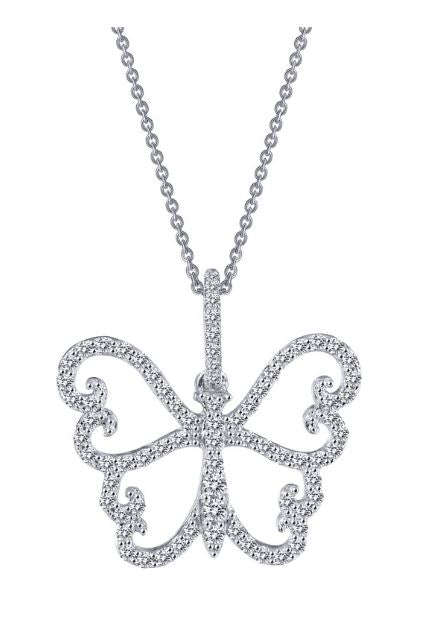 9P048CLP Butterfly Pendant - Jewelry Works