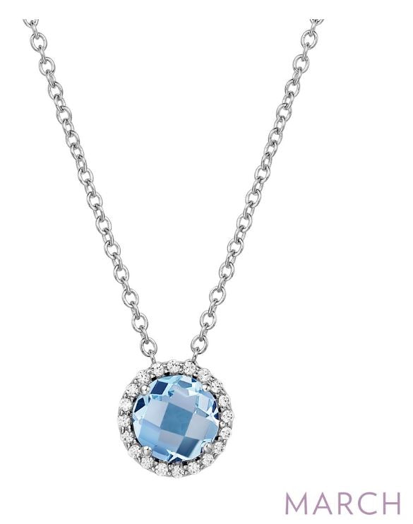BN001AQP March Birthstone Pendant