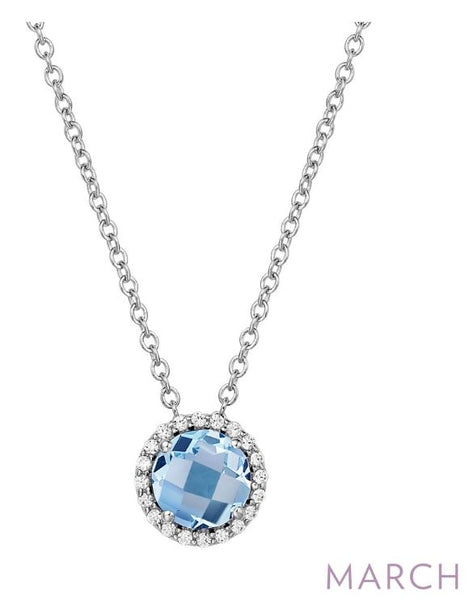 BN001AQP March Birthstone Pendant - Jewelry Works