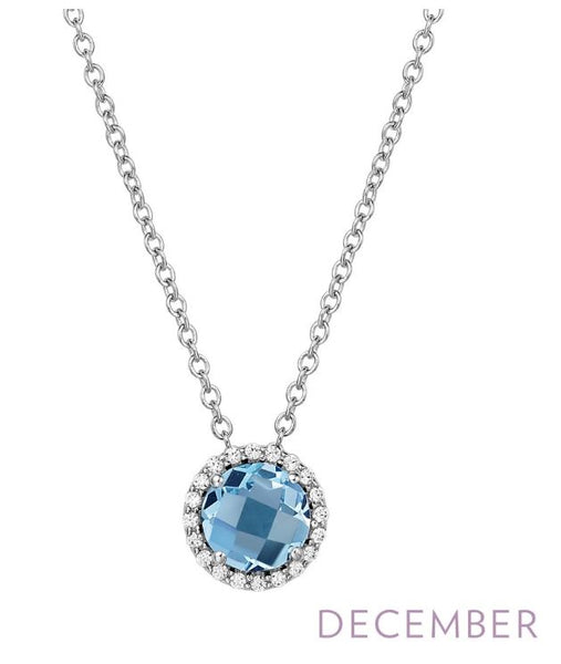 BN001BTP December Birthstone Pendant - Jewelry Works