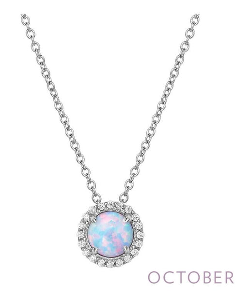 BN001OPP October Birthstone Pendant - Jewelry Works