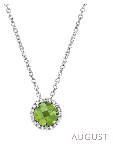 BN001PDP August Birthstone Pendant - Jewelry Works