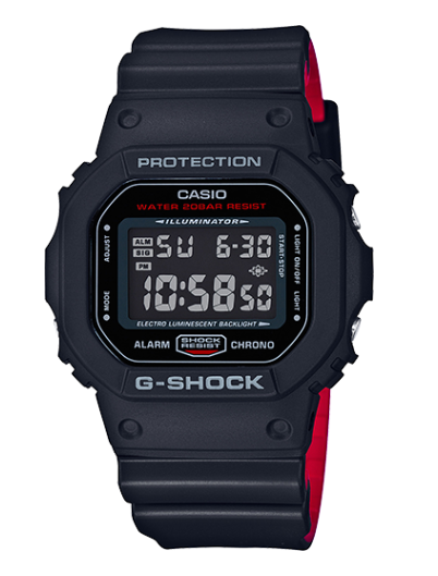 Casio G-Shock DW5600HR-1 Red and Black Men's Watch - Jewelry Works