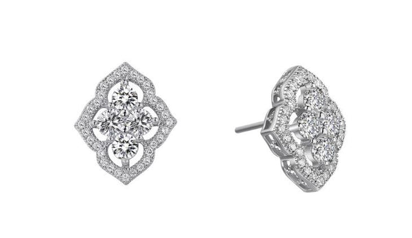 Vintage Style Simulated Diamond Earrings E0039CLP